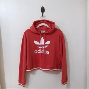 ADIDAS Active Icons Womens Crop Trefoil Hoodie